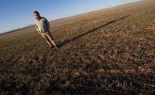 Sur des hectares, des cultures à peine sorties de terre et déjà perdues, d'autres parcelles abandonnées faute d'eau. Dans les plaines d'Aragon, dans le nord de l'Espagne, la campagne scrute désespérément le ciel, dans l'espoir d'y voir revenir la pluie.