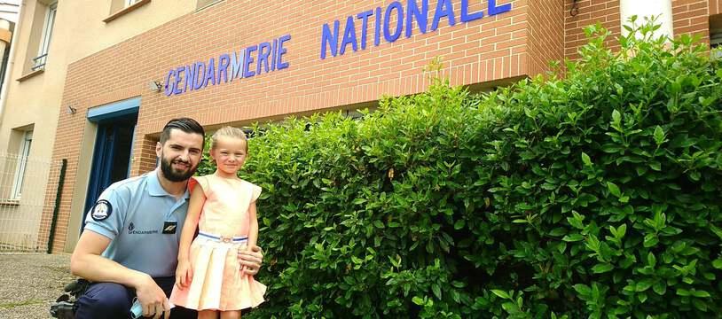 Le gendarme Pierre Gentillet est intervenu pour porter secours à la fillette qui s'étouffait avec un morceau de pain.