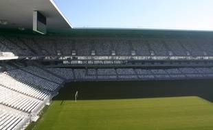 Le 11 fevrier 2015, visite du chantier du Nouveau stade de Bordeaux