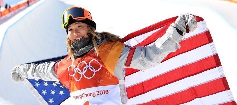 Chloe Kim, championne olympique américaine en halfpipe, le 13 février 2018 aux JO de Pyeonchang.