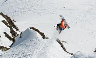 Camille Armand dans ses œuvres, en janvier lors de la première étape en Andorre où il a fini troisième.
