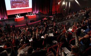 Les délégués du Parti communiste français réunis pour leur conférence nationale. (Illustration)