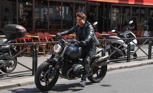 Tom Cruise lors du tournage de Mission Impossible