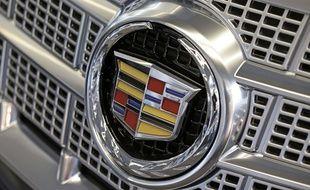 Le logo de la marque de voitures de luxe Cadillac (illustration).