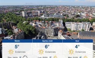 Météo Lille: Prévisions du samedi 18 janvier 2020