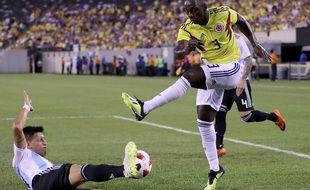 Le nouveau joueur du TFC Deiver Machado avec la Colombie contre l'Argentine, le 11 novembre 2018 à East Rutherford (Etats-Unis).