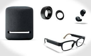 Le 25 septembre 2019, Amazon a dévoilé des lunettes, une bague et des écouteurs qui intègrent tous son assistant Alexa.