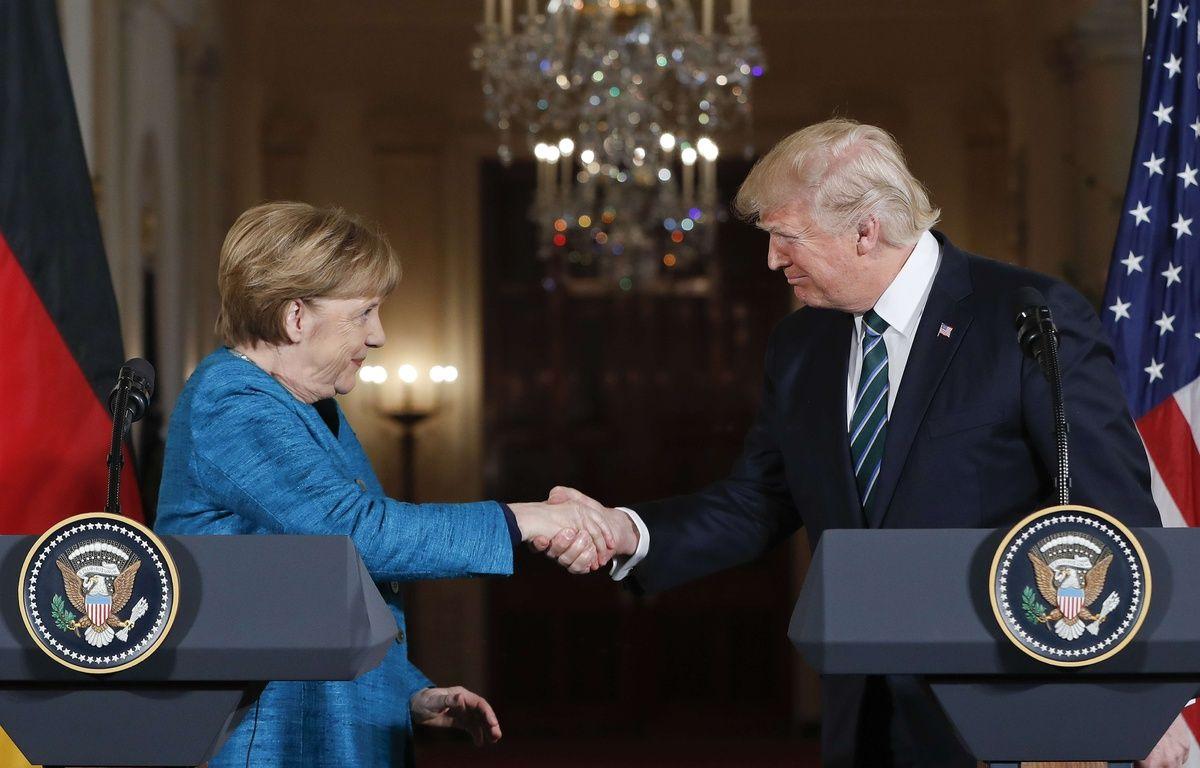 Donald Trump reçoit Angela Merkel à la Maison Blanche, le 17 mars 2017. – Pablo Martinez Monsivais/AP/SIPA