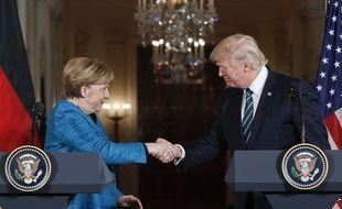 Donald Trump reçoit Angela Merkel à la Maison Blanche, le 17 mars 2017.