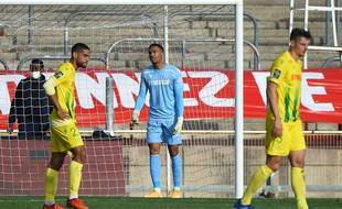 Castelletto, Lafont et Girotto lors du match nul (1-1) à Nîmes.