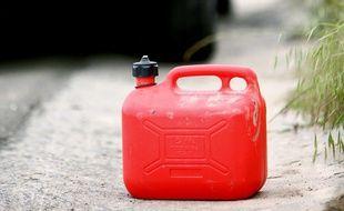 Illustration d'un bidon d'essence.