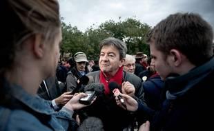 Jean-Luc Mélenchon dans une manifestation en souvenir de Rémi Fraisse, le 2 novembre 2014 à Paris