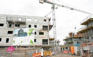 Construction de l'éco-quartier Ginko, à Bordeaux