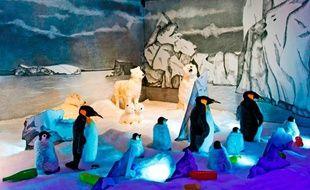 Une scène de l'exposition Age Magic, sur le marché de Noël des Champs-Elysées à Paris, jusqu'au 3 janvier 2012.