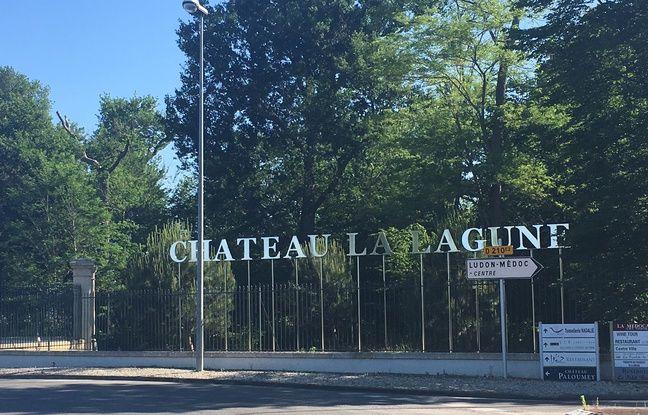 L'entrée du Château La Lagune à Bordeaux.