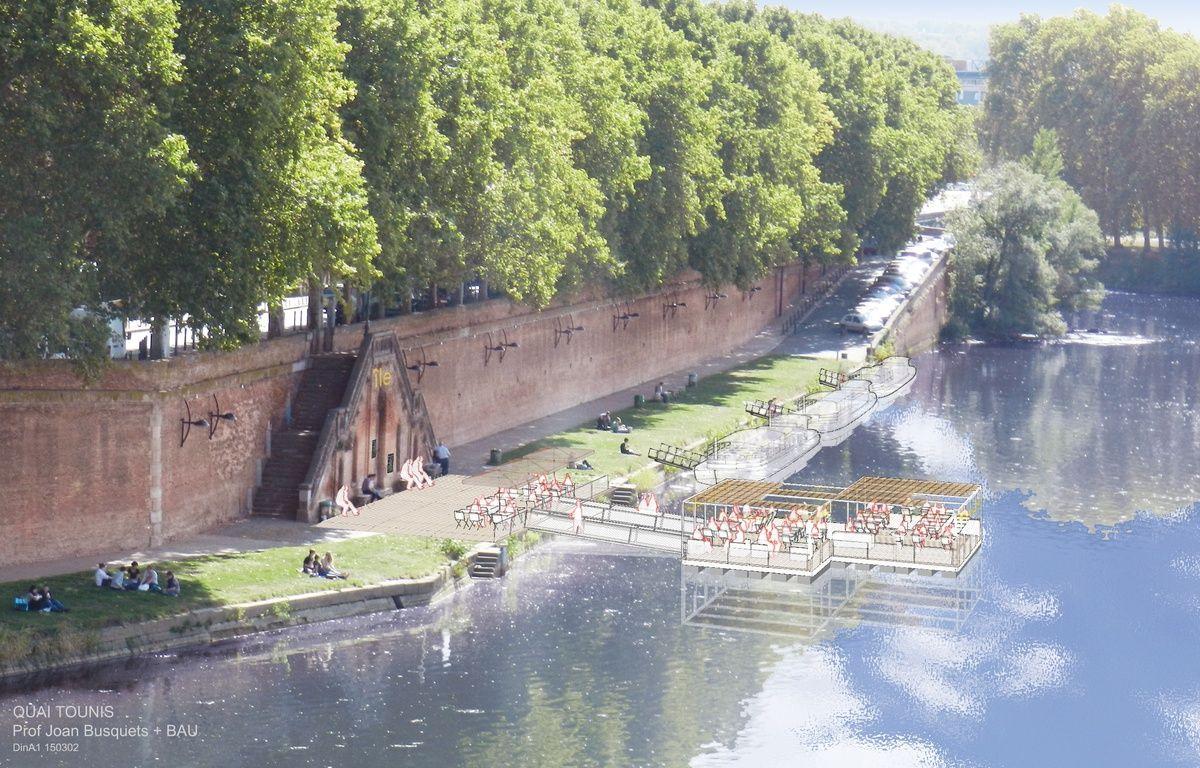 Le réaménagement du quai de Tounis à Toulouse selon l'urbaniste catalan Joan Busquets. – Agence BAU-B- Joan Busquets