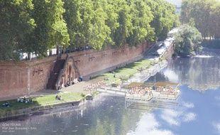 Le réaménagement du quai de Tounis à Toulouse selon l'urbaniste catalan Joan Busquets.