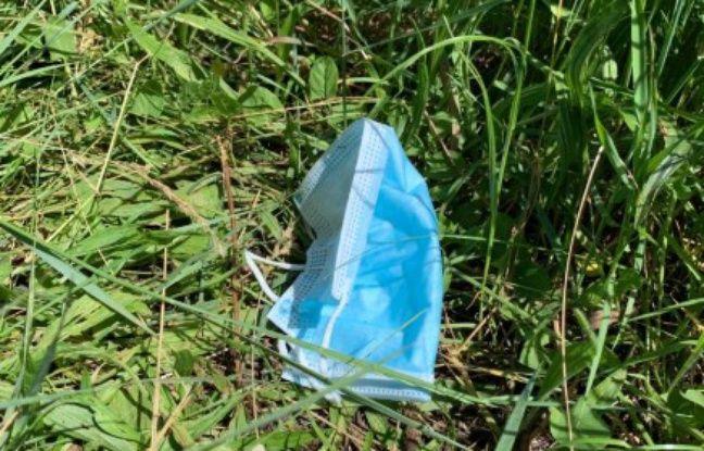 Déconfinement à Lyon : Encore trop de masques jetés par terre ou dans les cours d'eau, selon les autorités