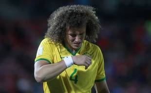 David Luiz est sorti sur blessure lors de Chili-Brésil (2-0), le 8 octobre 2015.
