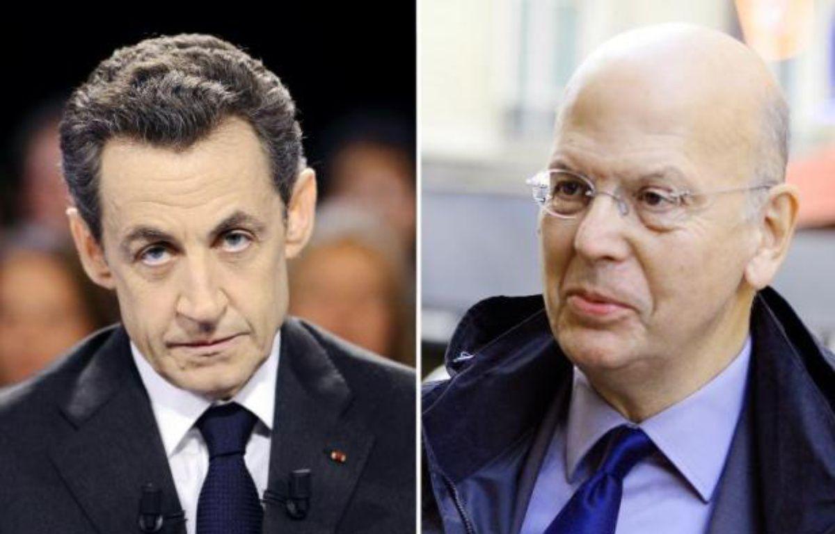 """L'affaire des enregistrements réalisés par Patrick Buisson éclabousse avant tout celui qui l'a promu dans le premier cercle du pouvoir, Nicolas Sarkozy, qui s'est laissé berné par """"un petit milicien"""", estiment jeudi de nombreux éditorialistes. – Lionel Bonaventure, Miguel Medina AFP"""