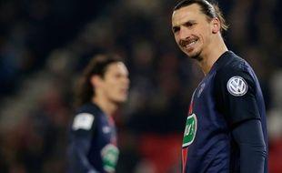 Zlatan Ibrahimovic lors du match entre le PSG et Toulouse le 19 janvier 2016.