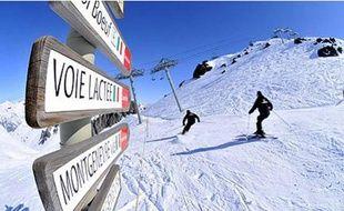 La station de Montgenèvre dans les Hautes-Alpes.