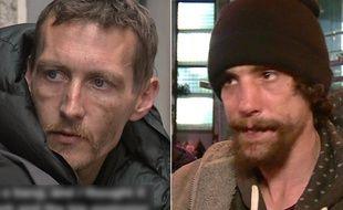 Stephen Jones et Chris Parker, deux sans-abri qui ont secouru les victimes de l'attentat de Manchester, le 23 mai 2017.