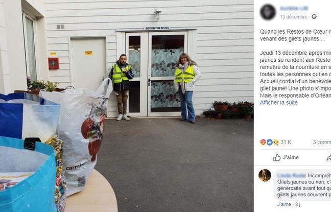 Le post Facebook viral sur les Restos du coeur.