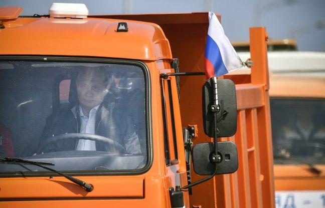 nouvel ordre mondial   Vladimir Poutine inaugure le pont reliant la Crimée à la Russie