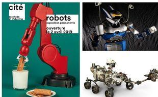 L'exposition permanente «Robots» ouvre ses portes à la Cité des sciences et de l'industrie le 2 avril 2019.