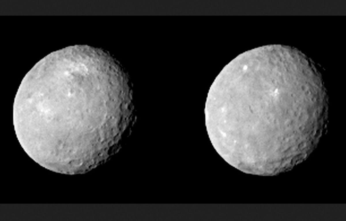 La planète naine Cérès photographiée par Dawn le 12 février 2015. –  NASA/JPL-Caltech/UCLA/MPS/DLR/IDA