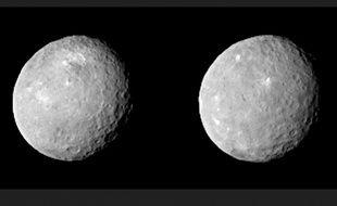 La planète naine Cérès photographiée par Dawn le 12 février 2015.