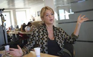 Virginie Efira, marraine de la FRM, à la rédaction de 20Minutes, le 1er octobre 2012.
