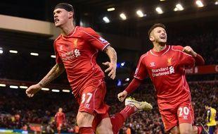 Le défenseur de Liverpool Martin Skrtel, auteur de l'égalisation contre arsenal, le 21 décembre 2014.