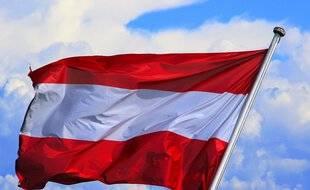 Le drapeau de l'Autriche.