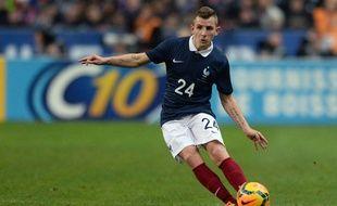 Lucas Digne lors du match entre la France et les Pays-Bas le 5 mars 2014.