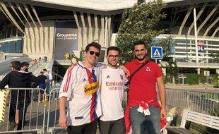 Léandre, Maxime et Guillaume ont pu se retrouver au Parc OL pour la première fois depuis un an et demi.