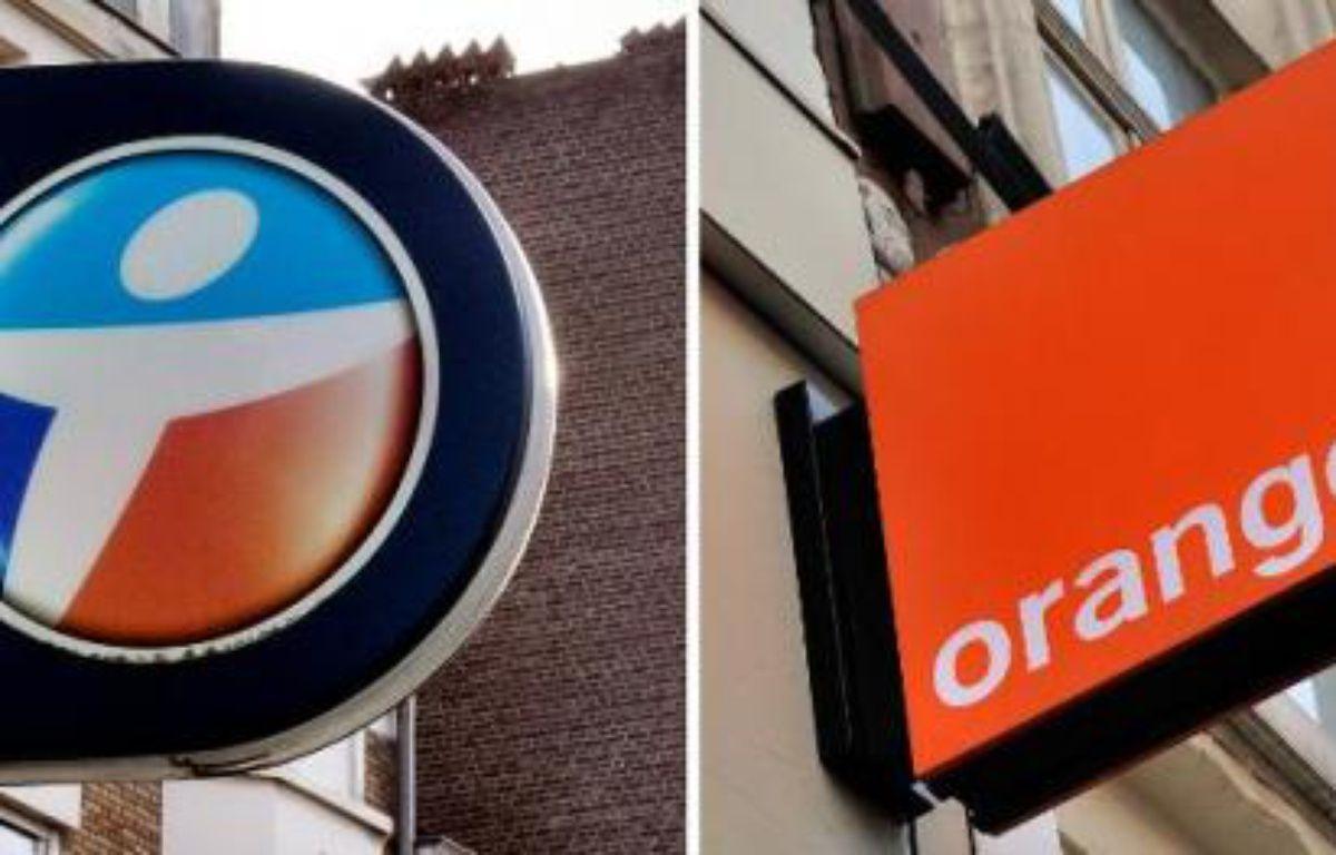 Les enseignes des opérateurs téléphoniques Orange et Bouygues Telecom – Philippe Huguen AFP