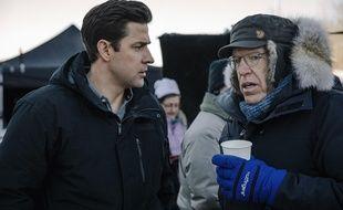 John Krasinski et Carlton Cuse sur le tournage de «Jack Ryan».
