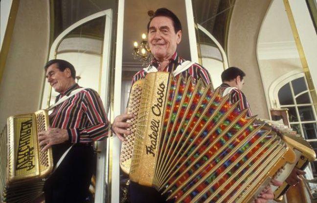 L'accordéoniste André Verchuren, le 26 avril 1991.