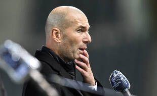 Zinédine Zidane lors du match entre le Real Madrid et le Borussia Moenchengladbach, le 27 octobre 2020.