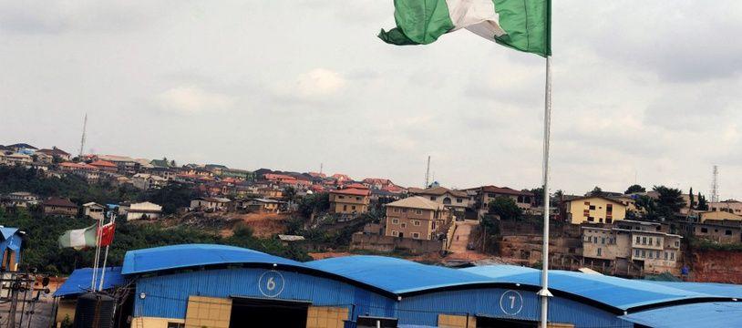 Le drapeau du Nigeria. (illustration)