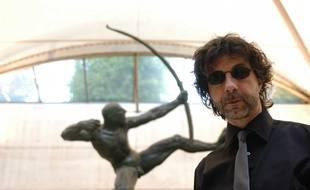 L'écrivain Maurice G. Dantec à Paris en 2005.