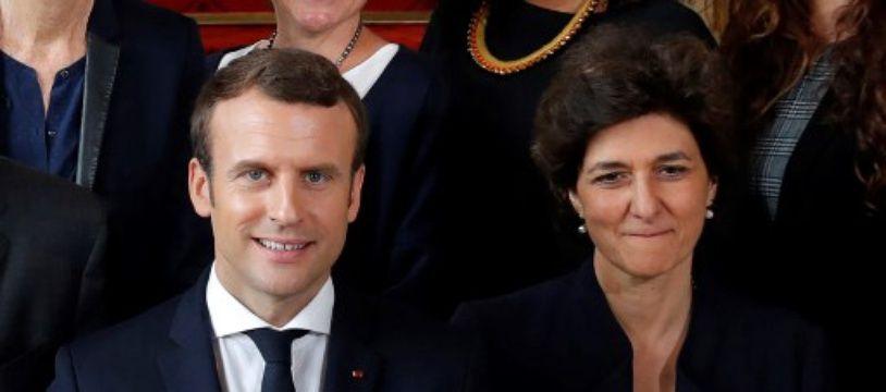 Emmanuel Macron aux côtés de Sylvie Goulard dont la candidature pour intégrer la future commission européenne a été recalée le 10 octobre par les eurodéputés.