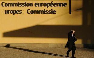 Devant le siège de la Commission européenneà Bruxelles, le 5 mars 2013