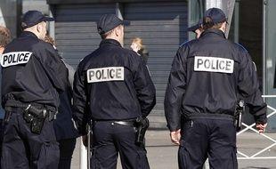 Patrouille de police à Lille en 2014