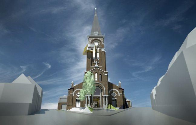 L'église Saint Louis vue de l'extérieur