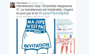 La Ville de Paris a lancé fin novembre 2016 une nouvelle campagne contre le harcèlement de rue.