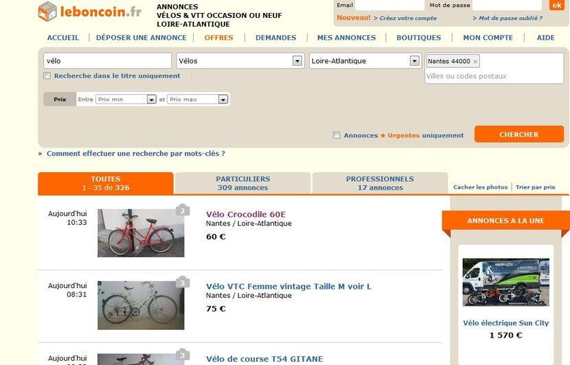 Nantes Il Vend Le Vélo Volé Sur Leboncoin Et Se Fait Piéger