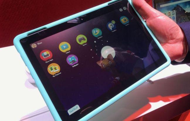 La tablette renforcée Tab 4 de Lenovo.